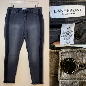 Lane Bryant | Black Jeans With Raw Edge | 16R